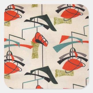 Mid Century Modern Atomic Fabric Stickers