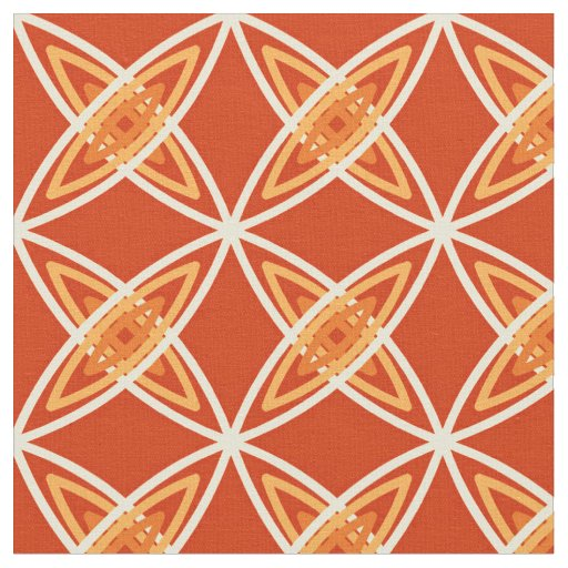 Mid Century Modern Atomic Print - Mandarin Orange