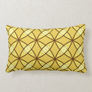 Mid Century Modern Atomic Print - Mustard Gold Cushions