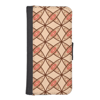 Mid Century Modern Atomic Print - Pastel Peach iPhone SE/5/5s Wallet Case