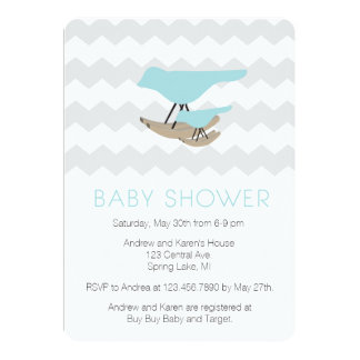 Mid century Modern Baby Shower Card