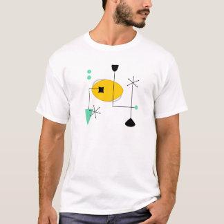 mid century modern blue yellow simple retro T-Shirt