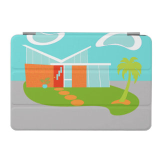 Mid Century Modern Cartoon House iPad Mini Cover