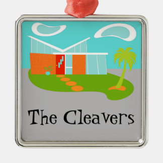 Mid Century Modern Cartoon House Ornament