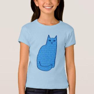 Mid-Century Modern Cat, Cobalt and Light Blue T-Shirt