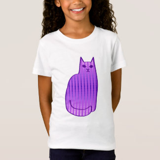 Mid-Century Modern Cat, Orchid and Purple T-Shirt