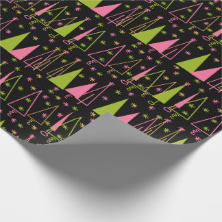 Mid-Century Modern Christmas Tree Wrapping Paper