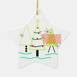 mid century modern christmas trees retro christmas ornament