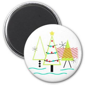 mid century modern christmas trees retro magnet