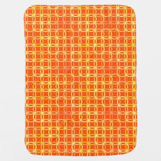 Mid-Century Modern circles, mandarin orange Baby Blanket