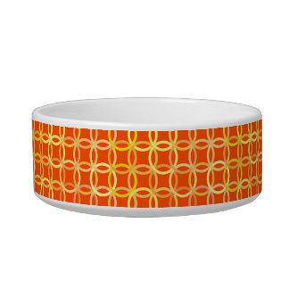 Mid-Century Modern circles, mandarin orange Bowl