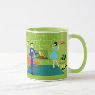 Mid Century Modern Couple Mug