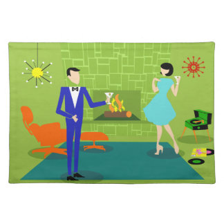 Mid Century Modern Couple Placemat