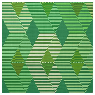 Mid-Century Modern Diamond Print, Jade Green Fabric