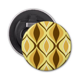 Mid-Century Modern Diamonds, Mustard Gold Bottle Opener