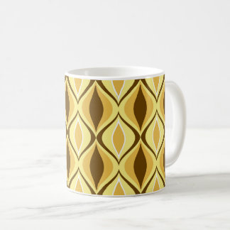 Mid-Century Modern Diamonds, Mustard Gold Coffee Mug