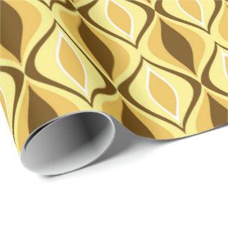 Mid-Century Modern Diamonds, Mustard Gold Wrapping Paper