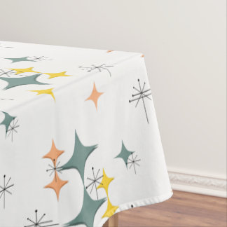 Mid Century Modern Eames Atomic Starbursts Custom Tablecloth