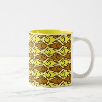 Mid-Century Modern fish, gold and brown Coffee Mug