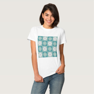 Mid Century Modern Geometric Flowers T-Shirt