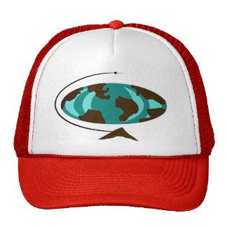 Mid Century Modern Globe Art Trucker Hat