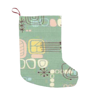 Mid Century Modern Graphic Christmas Stocking