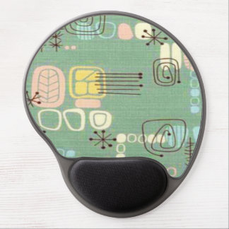 Mid Century Modern Graphic Design Gel Mousepad