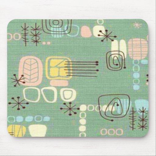 Mid Century Modern Graphic Design Mousepad