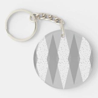 Mid Century Modern Grey Argyle Acrylic Keychain