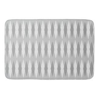 Mid Century Modern Grey Argyle Bath Mat