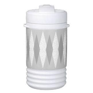 Mid Century Modern Grey Argyle Beverage Cooler
