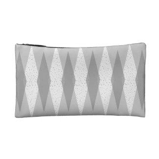 Mid Century Modern Grey Argyle Cosmetic Bag