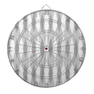 Mid Century Modern Grey Argyle Dart Board