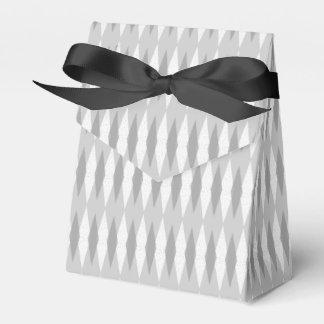 Mid Century Modern Grey Argyle Favor Box