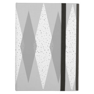 Mid Century Modern Grey Argyle iPad Case