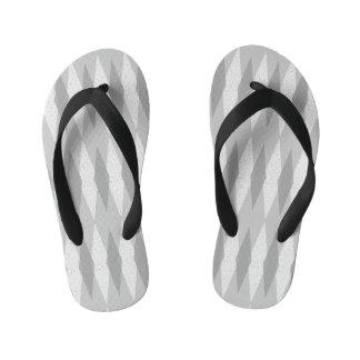 Mid Century Modern Grey Argyle Kid's Flip Flops