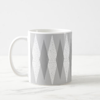 Mid Century Modern Grey Argyle Mug