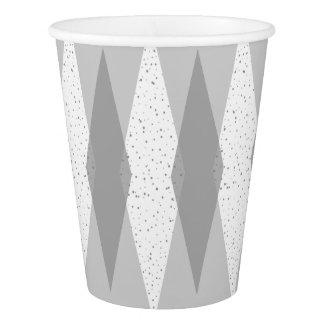 Mid Century Modern Grey Argyle Paper Cups
