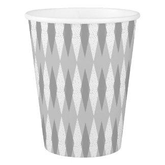 Mid Century Modern Grey Argyle Paper Napkins