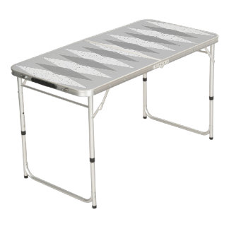 Mid Century Modern Grey Argyle Pong Table