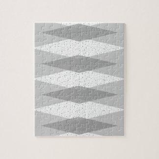 Mid Century Modern Grey Argyle Puzzle