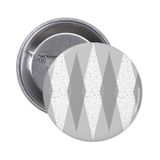 Mid Century Modern Grey Argyle Round Button