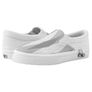 Mid Century Modern Grey Argyle Slip On Shoes