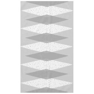 Mid Century Modern Grey Argyle Tablecloth