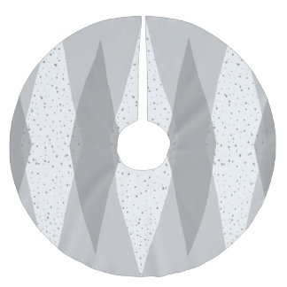 Mid Century Modern Grey Argyle Tree Skirt
