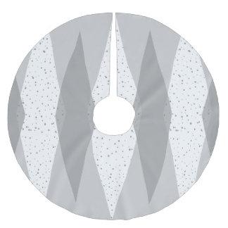 Mid Century Modern Grey Argyle Tree Skirt Brushed Polyester Tree Skirt
