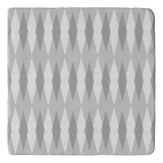 Mid Century Modern Grey Argyle Trivet
