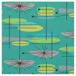Mid-Century Modern Half Moons Design Fabric 25