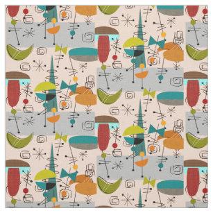 Mid Century Modern Fabric Zazzlecouk