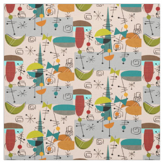 Mid-Century Modern Half Moons Design Fabric 9